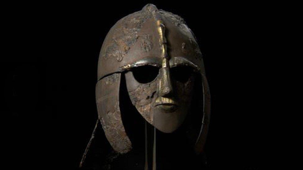 Helmet found at Sutton Hoo