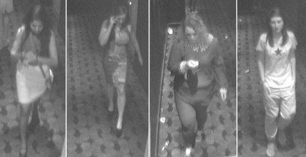 CCTV images of four people police want to speak with in connection with a rape in Basildon