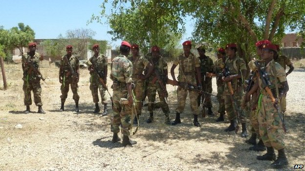 Ethiopian troops in Baidoa in 2012