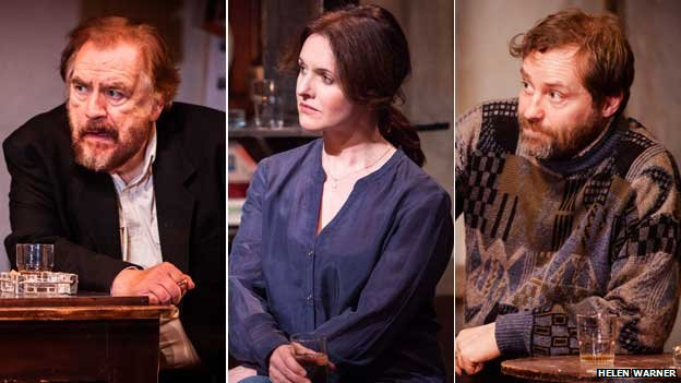 Brian Cox, Dervla Kirwan and Ardal O'Hanlon in The Weir
