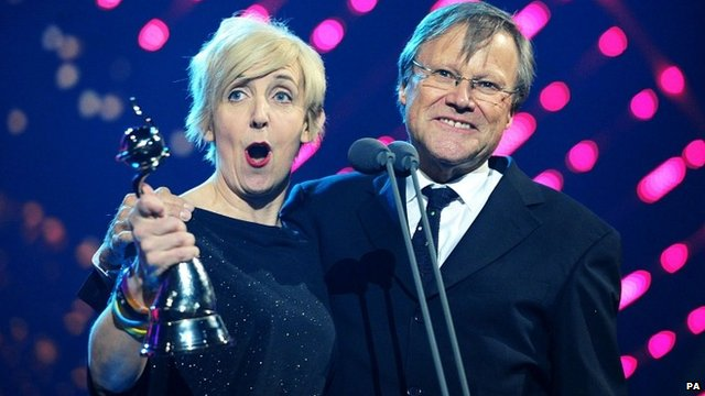 Actress Julie Hesmondhalgh was joined on stage by her co-star David Neilson