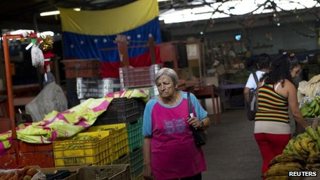 Woman in Caracas market