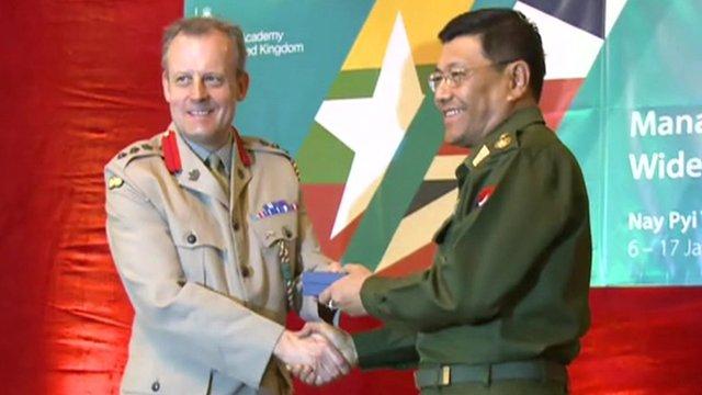 British and Burmese military