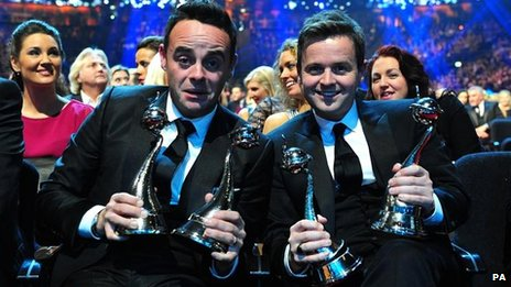 Anthony McPartlin and Declan Donnely with their NTAs