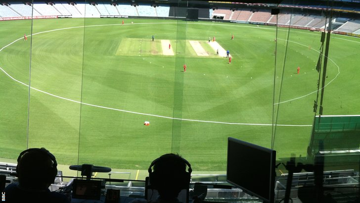 View from the commentary box