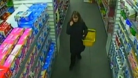 CCTV image of Mrs Campbell