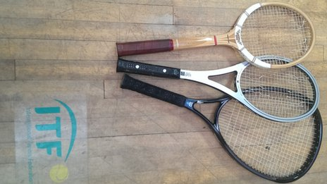 Racquets at the ITF laboratory