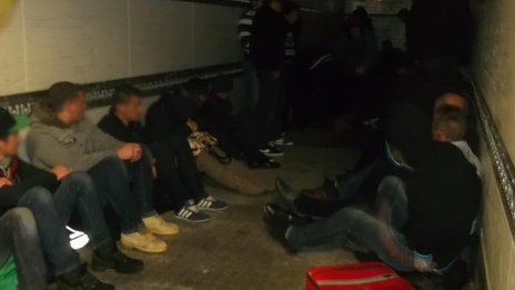 Albanian nationals discovered in the lorry