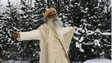 Davos participant Jaggi Vasudev in the snow