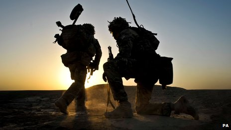 Soldiers from the 1st Battalion Royal Regiment Fusiliers, in Afghanistan (file pic)
