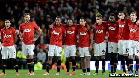Manchester United looking glum