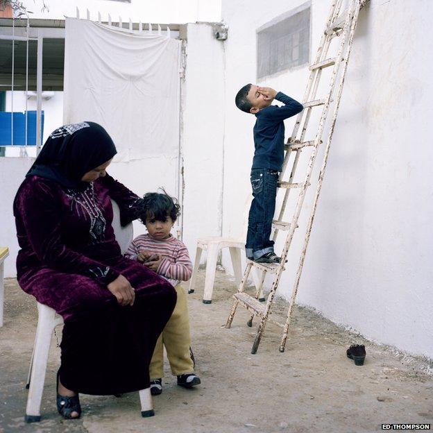 Family living in Lebanese family's summerhouse