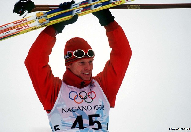 Bjorn Daehlie in the 1998 Winter Olympics