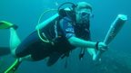 Queen's Baton Relay goes underwater in the Seychelles