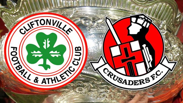 Cliftonville and Crusaders meet in the League Cup final