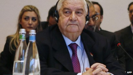 Foreign Minister Walid al Moallem