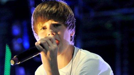 Justin Bieber, in 2010