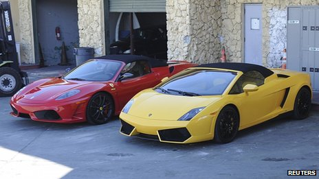 Impounded cars in Miami. 23 Jan 2014