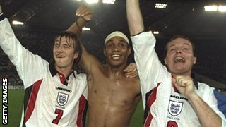 David Beckham, Paul Ince and Paul Gascoigne