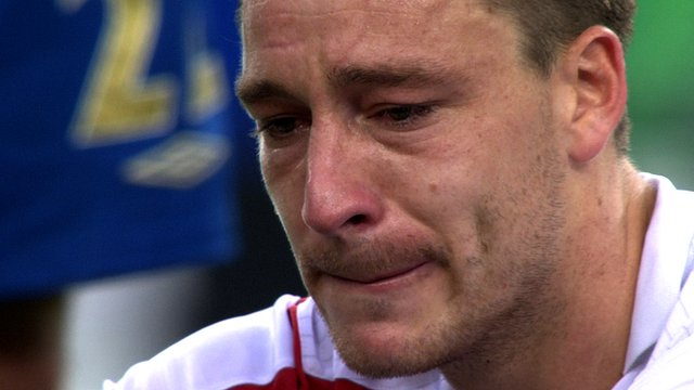 John Terry cries following England's 2006 World Cup defeat on penalties to Portugal