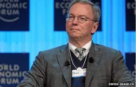 Eric Schmidt at the World Economic Forum, Davos, in 2013