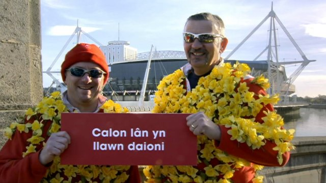 Wales sings Calon Lan