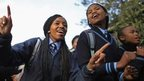Schoolgirls in South Africa