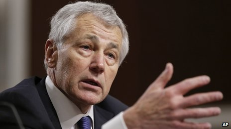Defence Secretary Chuck Hagel appeared in Washington DC on 31 January 2013