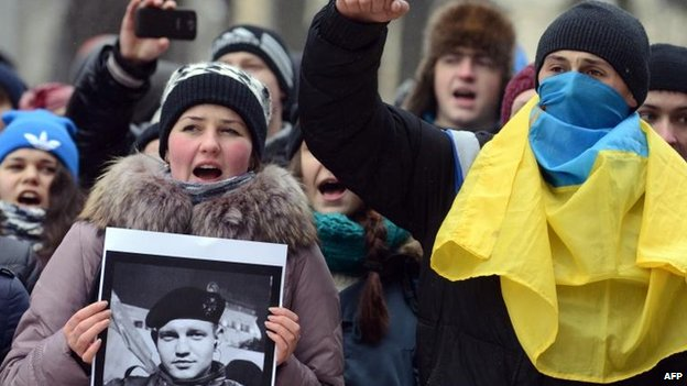 Protest in Lviv, 23 Jan