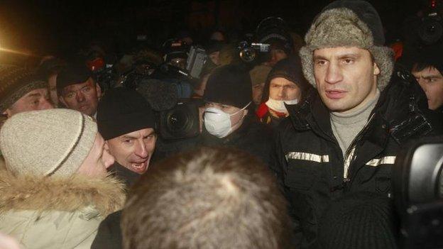 Vitali Klitschko, Kiev, 23 Jan
