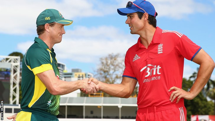 George Bailey and Alastair Cook