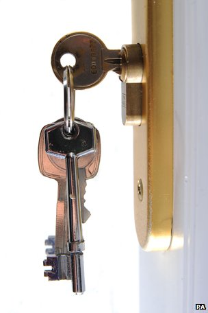 Keys in a door