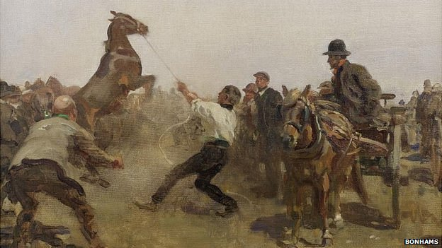 The Fair (detail) by Alfred Munnings
