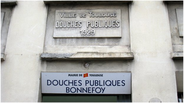 The 'Douche Publiques' public showers in France