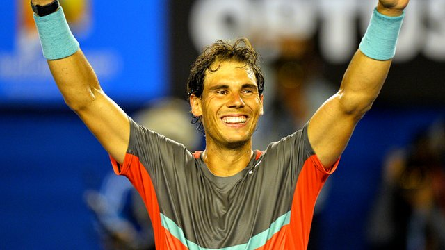 Rafael Nadal defeats Rodger Federer in straight sets to reach the final of the Australian Open.