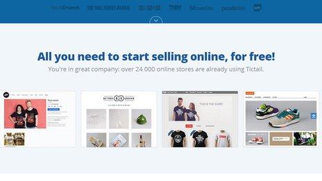 Tictail's website