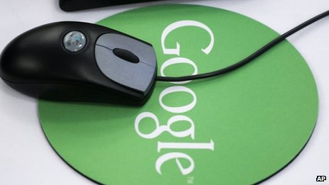 Google mouse mat and mouse