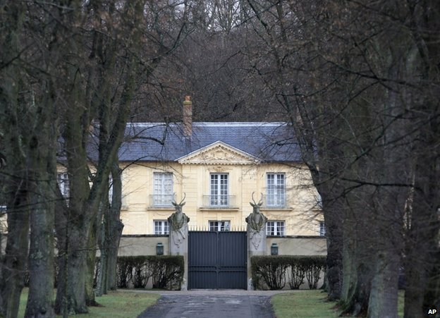 The Lanterne residence in Versailles, near Paris, 19 January