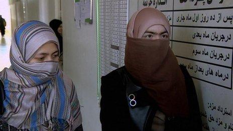 Muslim women in Kabul