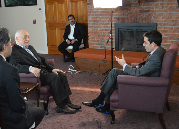 Fethullah Gulen being interviewed by Tim Franks