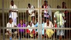 Suspected Somali pirates in a cell in Mombasa, Kenya on 23 January 2014