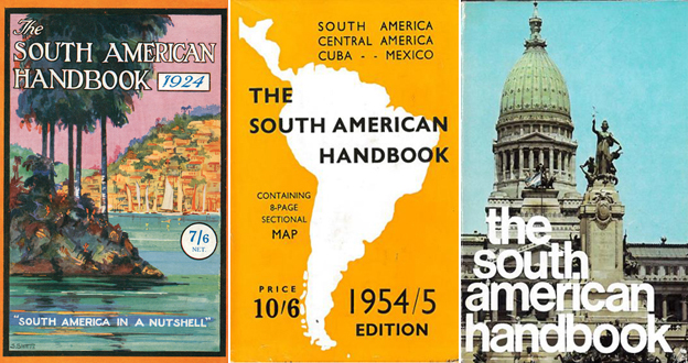 Dustcovers for the South American Handbook. Courtesy of Footprint Travel Guides