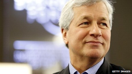 Mr Dimon, pictured at the World Economic Forum in Davos