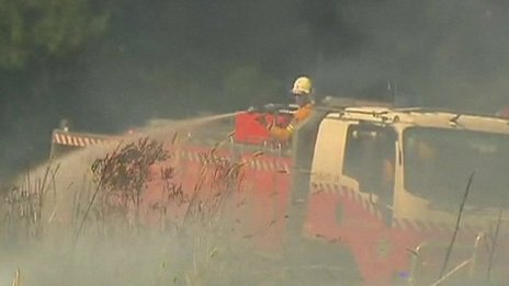 Fire crews tackle wildfires
