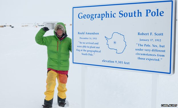 Lewis Clarke at the South Pole