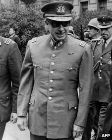 General Augusto Pinochet smiles in Santiago in September 1973 following his coup.