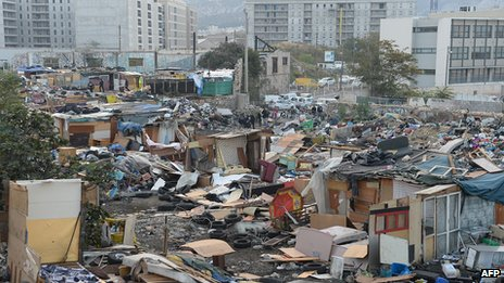 Roma camp dismantled in French southern city of Marseille in October in Marseille