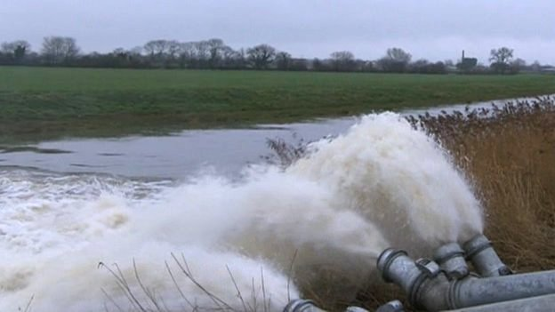Pumping on the Somerset Levels