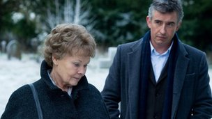 Judi Dench as Philomena and Steve Coogan as Martin Sixsmith