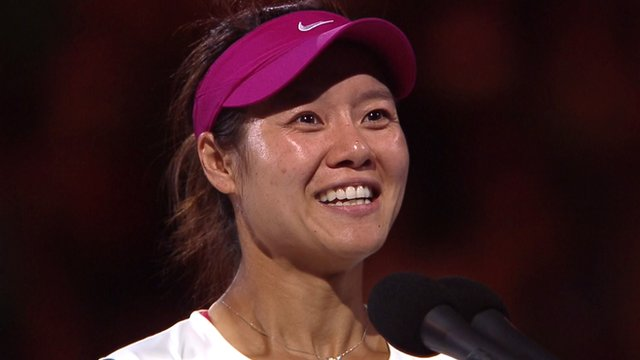 Li Na tickles the crowd with jokes after winning the Australian Open title